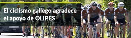 Galician cycling appreciates the support of OLIPES